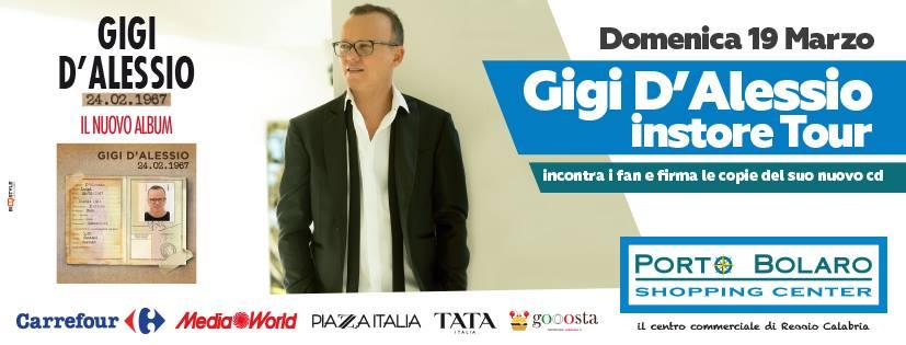 Gigi D'Alessio instore tour